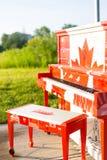 加拿大人150钢琴 免版税图库摄影