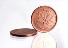 加拿大便士 免版税库存图片