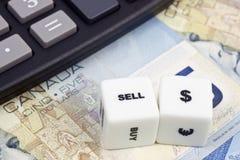 加拿大元出售 免版税库存图片