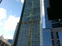 加拿大全国塔的反射 免版税库存照片