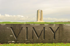 加拿大全国Vimy里奇纪念品在法国 免版税库存照片