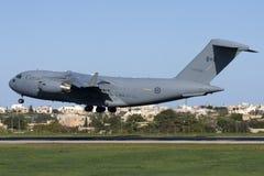 加拿大军用货物航空器 免版税库存照片