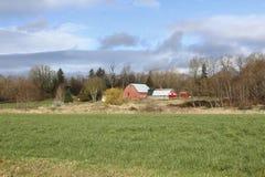 加拿大农厂风景 免版税库存照片