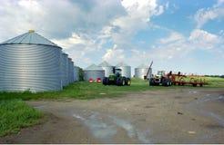加拿大农场萨斯喀彻温省 免版税库存照片
