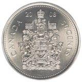 加拿大分硬币 免版税库存图片
