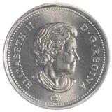 50加拿大分硬币 库存照片
