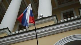 加拿大和俄国旗子 股票视频