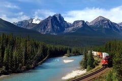 加拿大和平的铁路 免版税库存照片