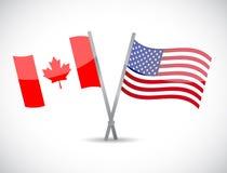 加拿大和我们合作概念例证 免版税库存照片