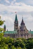 加拿大国会 免版税图库摄影