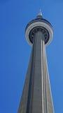 加拿大国家电视塔在多伦多是吸引超过2百万个访客每年7-25-2018的一个普遍的地标 免版税库存照片