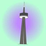 加拿大国家电视塔流行艺术传染媒介 免版税库存图片