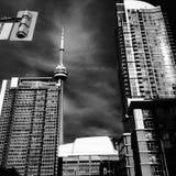 加拿大国家电视塔街市多伦多 免版税库存图片