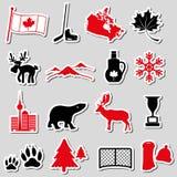 加拿大国家题材标志贴纸设置了eps10 图库摄影