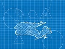 加拿大地图图纸  库存照片