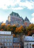 加拿大大别墅城市魁北克 免版税库存照片