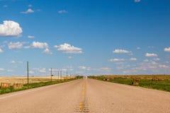 加拿大大草原路 免版税库存图片