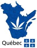加拿大大麻合法化传染媒介魁北克省  皇族释放例证