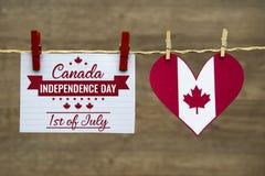 加拿大天,独立日消息 图库摄影