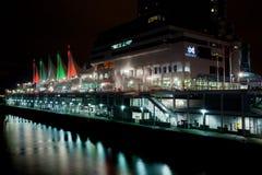 加拿大安排在晚上,温哥华 免版税库存照片