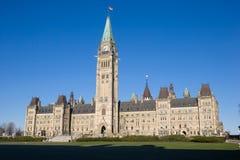 加拿大小山安大略渥太华议会 免版税库存照片