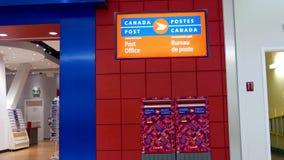 加拿大岗位标志和邮箱 股票录像