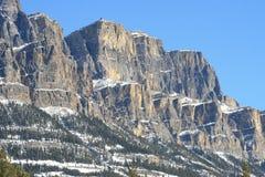 加拿大岩石雄伟的山 免版税库存图片