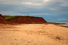 加拿大峭壁爱德华海岛王子红色沙子 库存照片