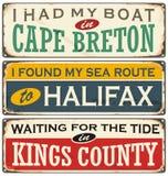 加拿大市和旅行目的地 皇族释放例证