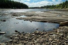 加拿大干草nwt河 库存图片