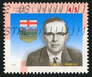 加拿大打印的邮票 库存照片