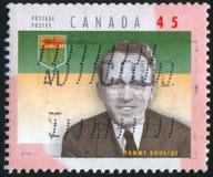 加拿大打印的邮票 库存图片