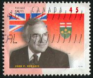 加拿大打印的邮票 免版税库存照片