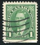 加拿大打印的邮票 免版税库存图片