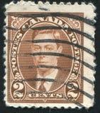 加拿大打印的邮票 图库摄影