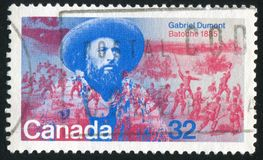 加拿大打印的Poststamp 库存照片