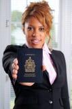 加拿大护照 免版税库存图片