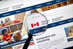 加拿大政府正式网页  免版税库存图片