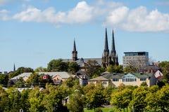 加拿大教会尖顶 免版税图库摄影