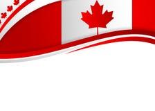 加拿大旗子主题的横幅 库存图片