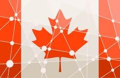 加拿大旗子概念 库存照片