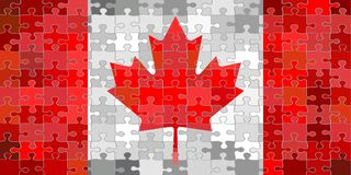 加拿大旗子由难题背景制成 皇族释放例证
