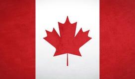 加拿大旗子纹理 库存图片