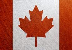 加拿大旗子葡萄酒,减速火箭,被抓, 库存图片