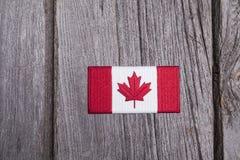 加拿大旗子补丁 免版税库存照片