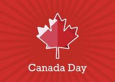 加拿大日传染媒介 免版税库存图片