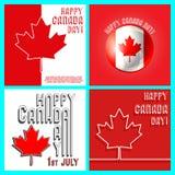 加拿大日模板集合 皇族释放例证
