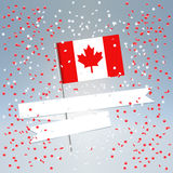 加拿大日欢乐明信片 免版税库存图片