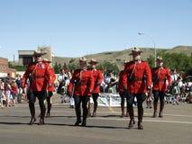 加拿大日游行rcmp 库存图片