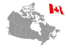 加拿大映射向量 免版税图库摄影